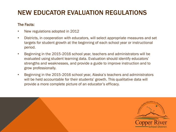 New Educator Evaluation Regulations