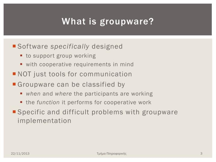 What is groupware