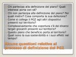 alcune questioni relative al processo di definizione del pgz