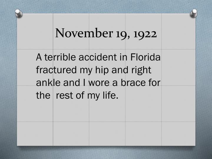 November 19, 1922