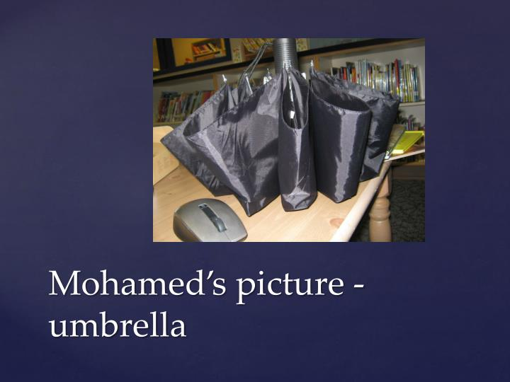 Mohamed s picture umbrella