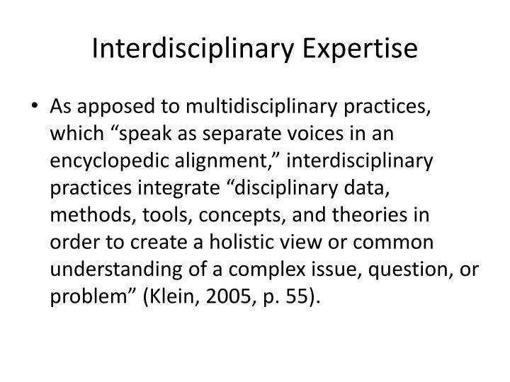 Interdisciplinary Expertise