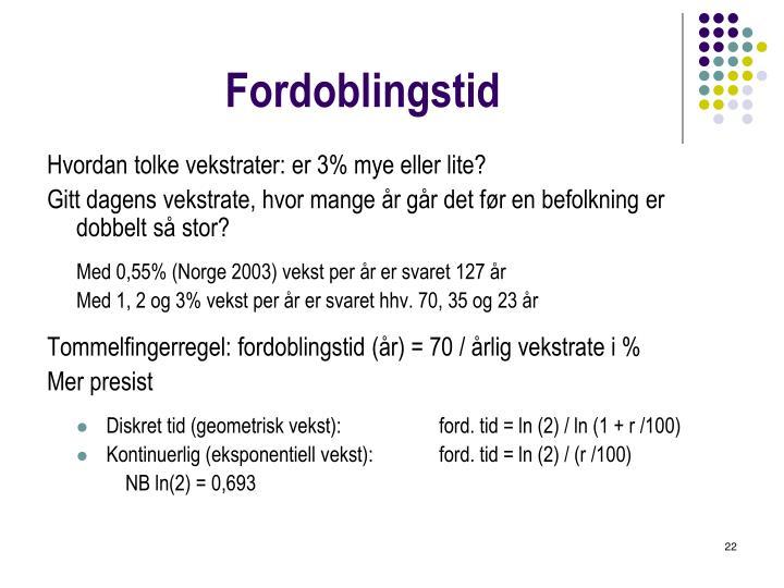 Fordoblingstid