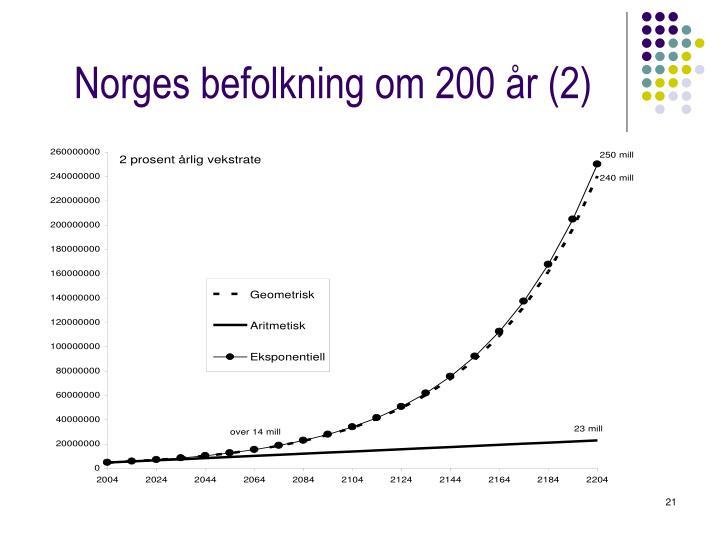 Norges befolkning om 200 år (2)