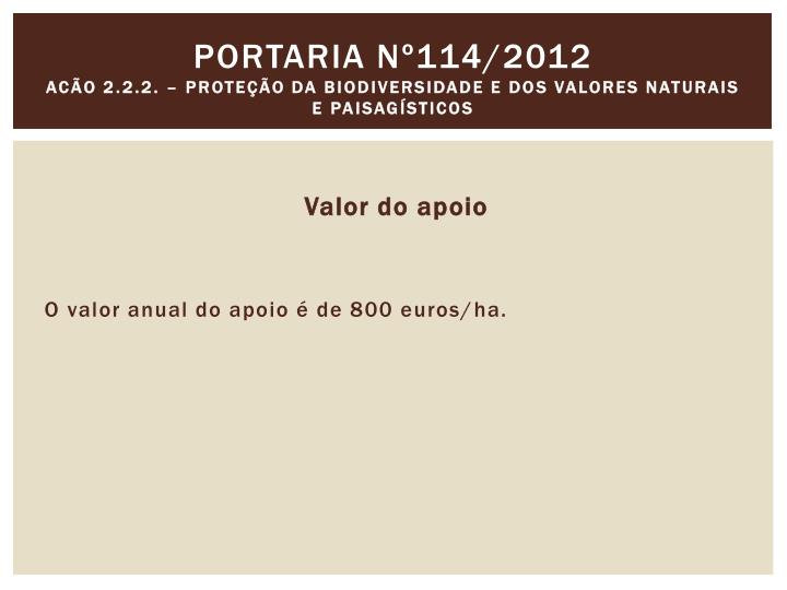 Portaria nº114/2012