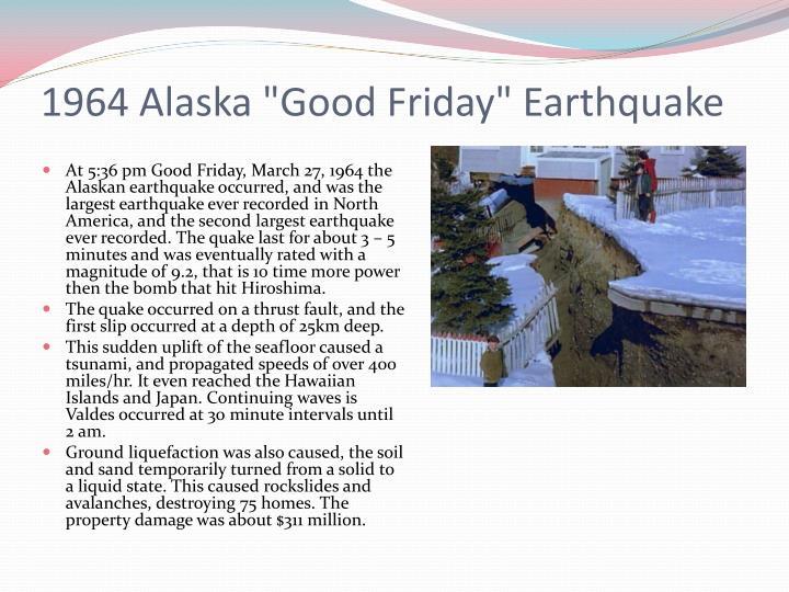 """1964 Alaska """"Good Friday"""""""