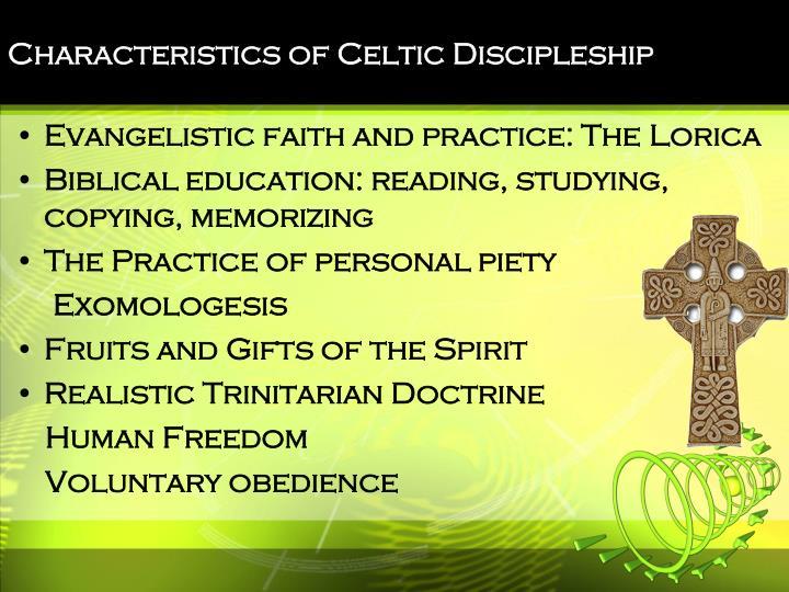 Characteristics of Celtic Discipleship