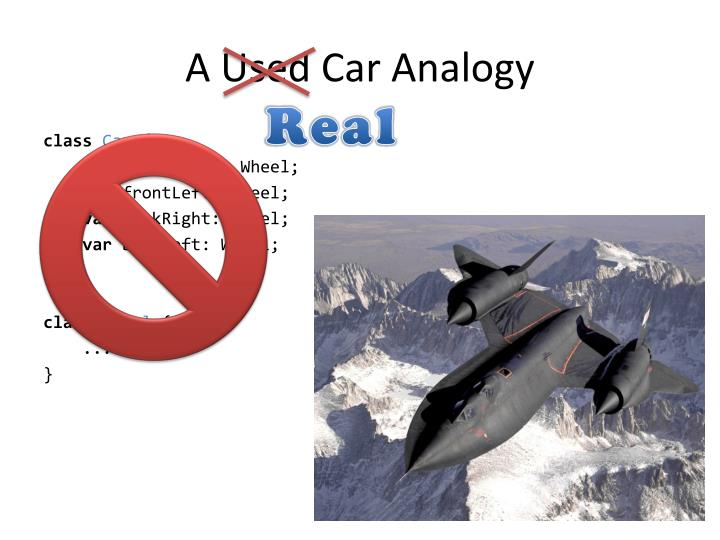 A Used Car Analogy