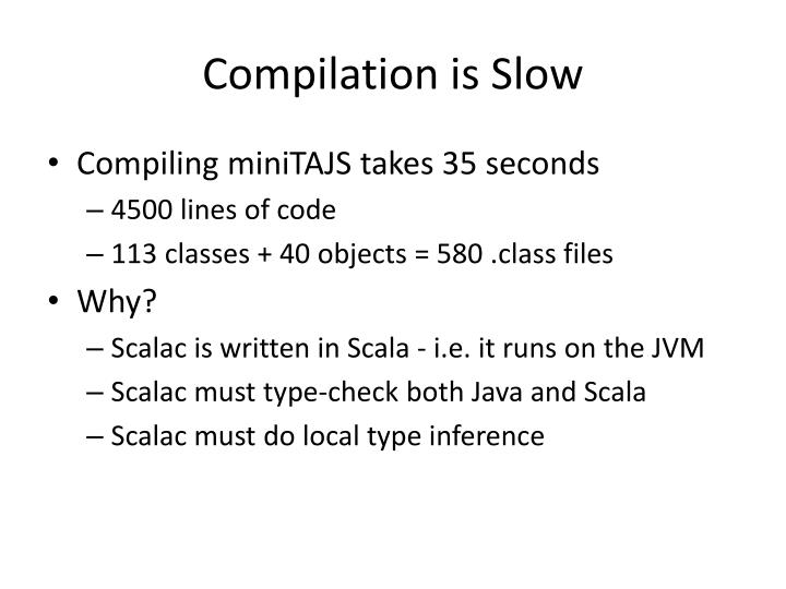Compilation is Slow