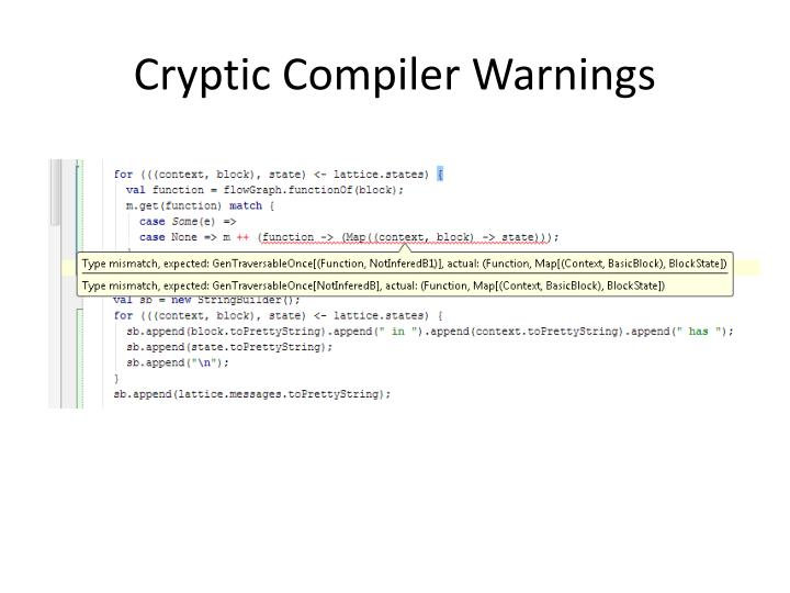 Cryptic Compiler Warnings