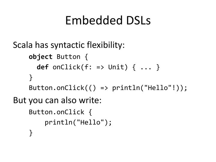 Embedded DSLs