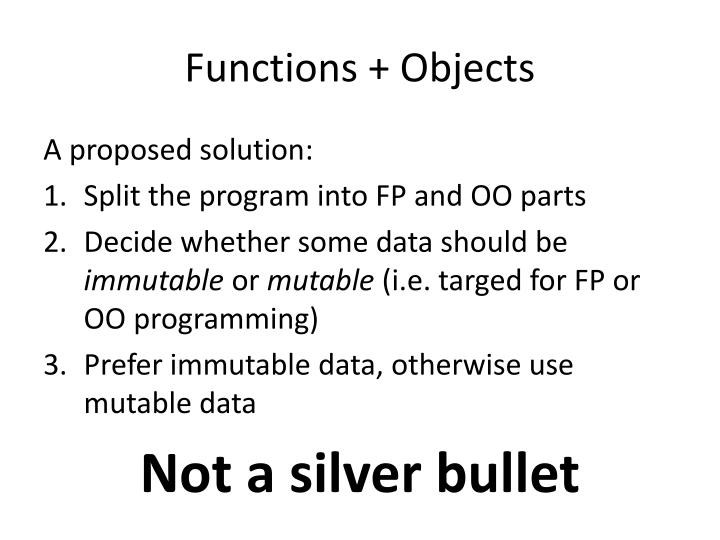 Functions + Objects