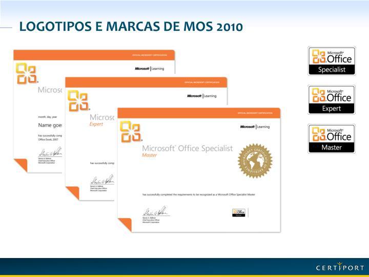 Logotipos e marcas de MOS 2010