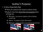 author s purpose