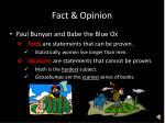 fact opinion