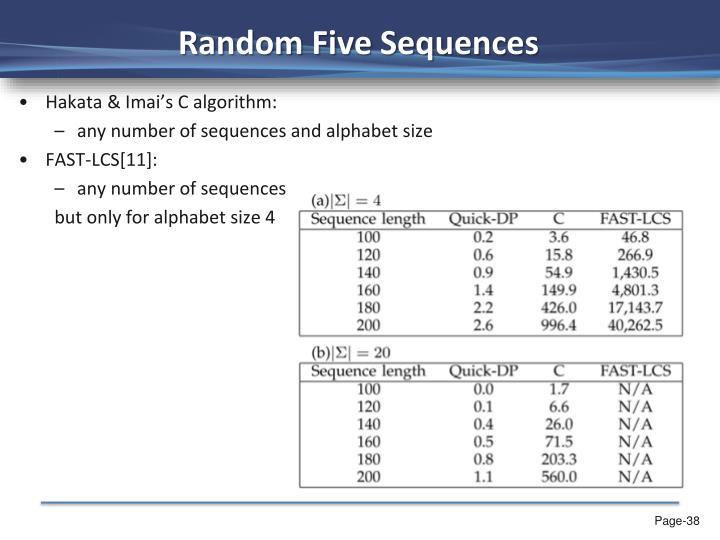 Random Five Sequences