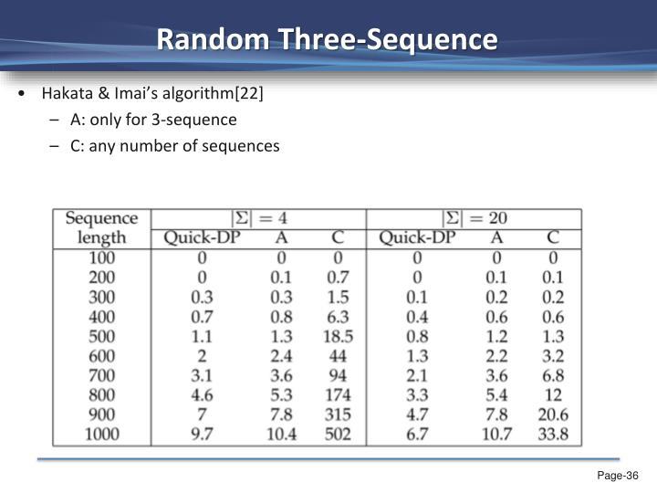 Random Three-Sequence