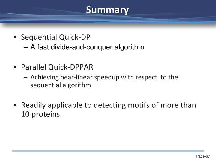 Sequential Quick-DP