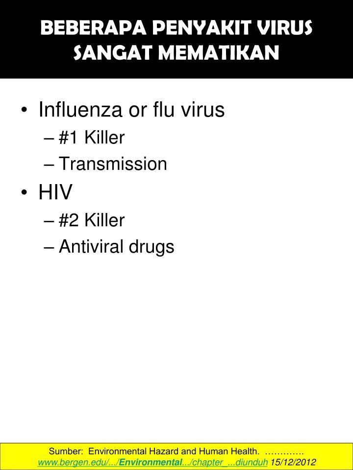 BEBERAPA PENYAKIT VIRUS SANGAT MEMATIKAN