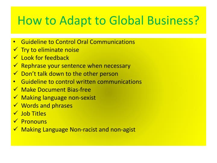 How to Adapt to Global Business?