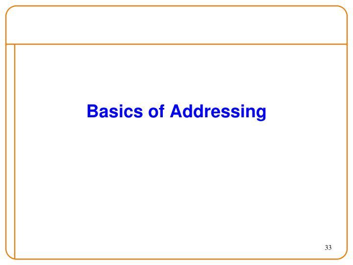 Basics of Addressing