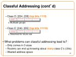 classful addressing cont d