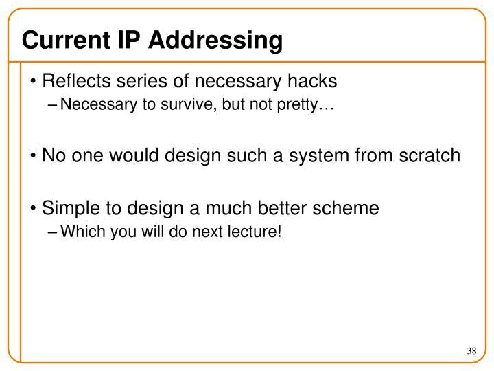 Current IP Addressing
