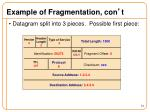 example of fragmentation con t1