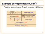 example of fragmentation con t2