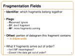 fragmentation fields