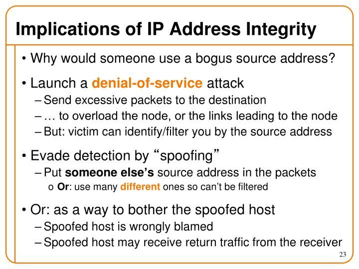 Implications of IP