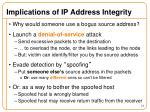 implications of ip address integrity