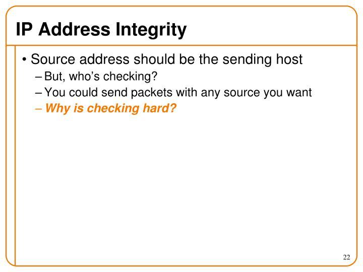 IP Address Integrity
