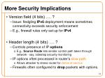 more security implications