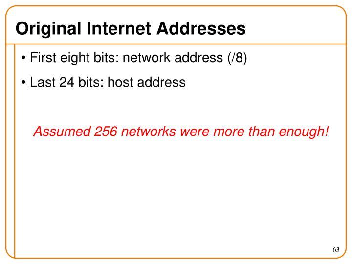 Original Internet Addresses