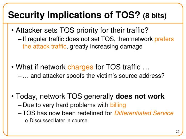 Security Implications of TOS?
