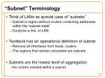 subnet terminology