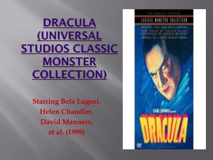 Dracula universal studios classic monster collection