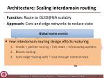 architecture scaling interdomain routing1