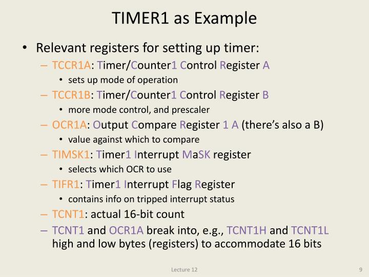 TIMER1 as Example