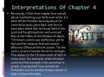 interpretations of chapter 4