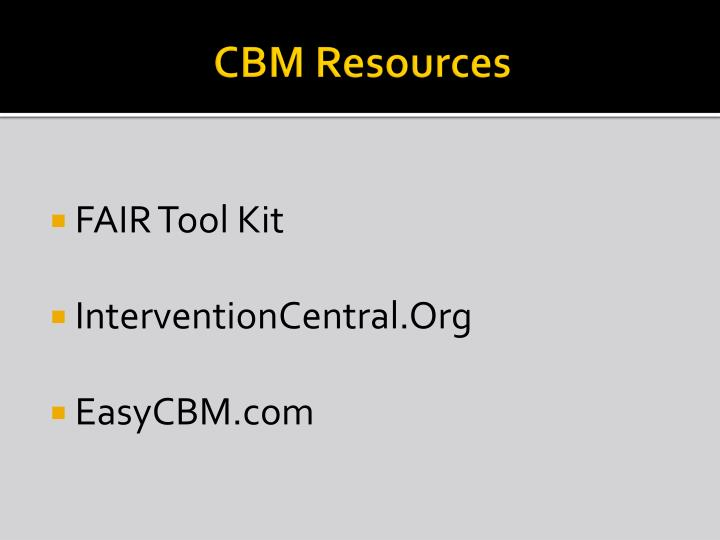CBM Resources