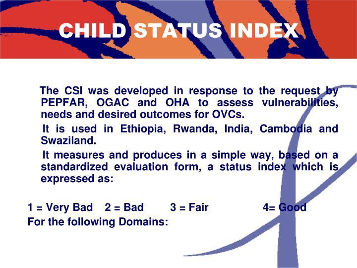CHILD STATUS INDEX