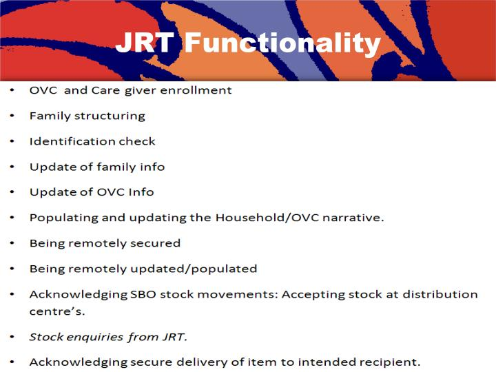 JRT Functionality