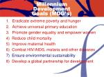 millennium development goals mdg s