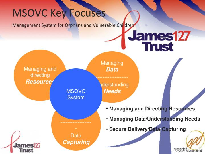 MSOVC Key Focuses