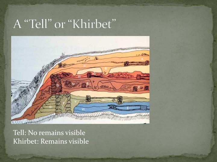"""A """"Tell"""" or """"Khirbet"""""""