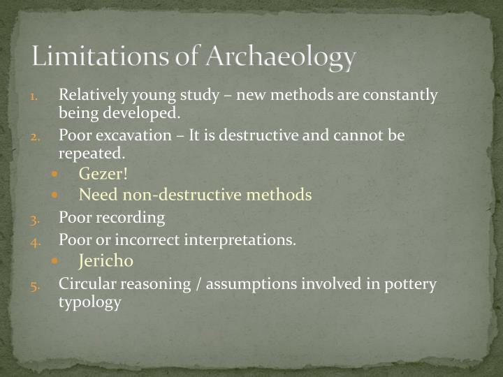 Limitations of Archaeology