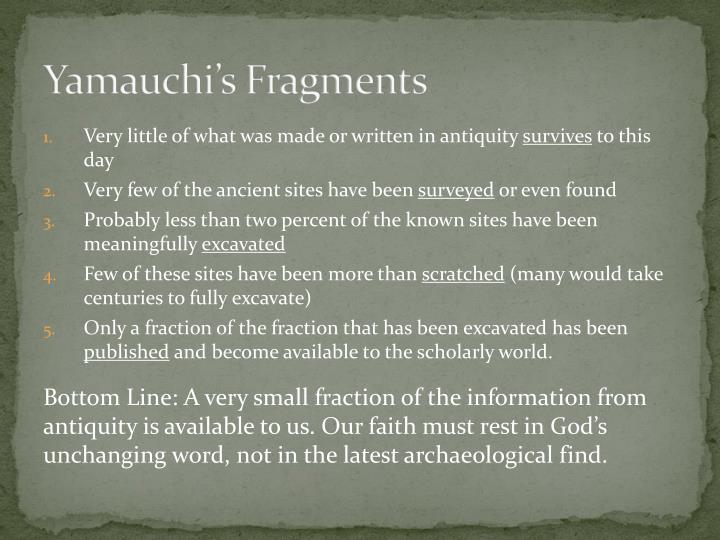 Yamauchi's Fragments