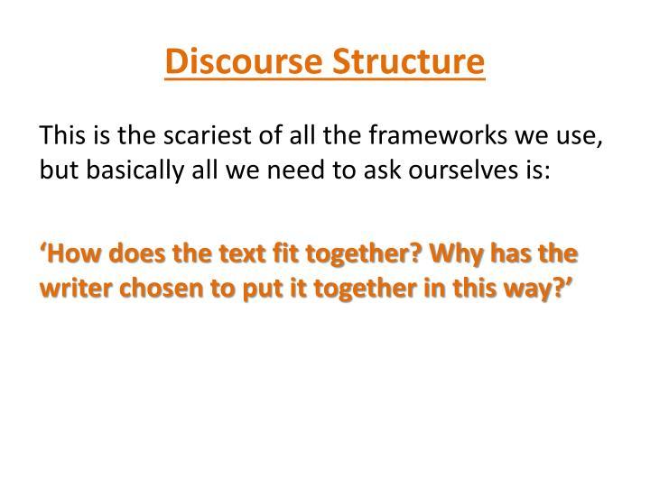 Discourse Structure